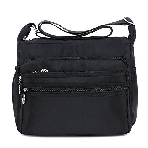 Women's Multi-Pocket Casual Crossbody Handbags Waterproof Shoulder Nylon...