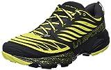 La Sportiva Akasha Trail Running Calzado para Hombre, Multicolor (Negro/Sulphur), 45 EU
