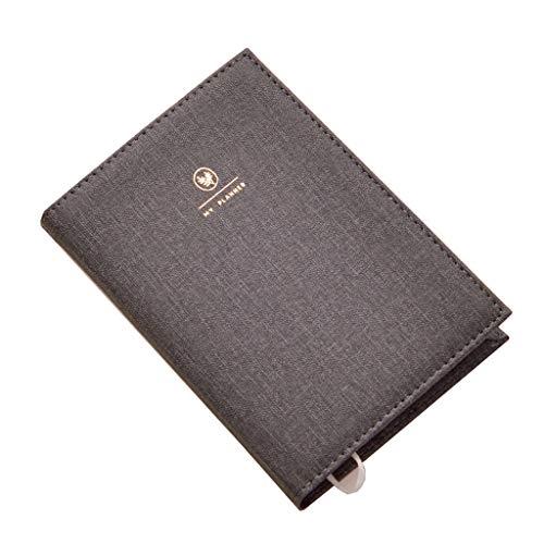 Cuadernos Espesar Cuaderno de papelería Bloc de Notas Diario Oficina Negocio Rejilla Cuaderno en Blanco 144 Hojas Blocs de Notas y Diarios (Color : Black, tamaño : 13 * 21cm)