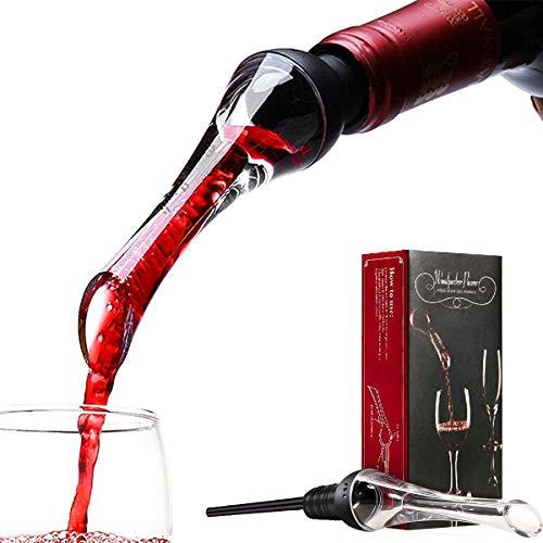 Juanya Weinbelüfter, tropffrei, Ausgießer, Wein-Verkostung, Rot/Weiß, Geschenk für Weinliebhaber