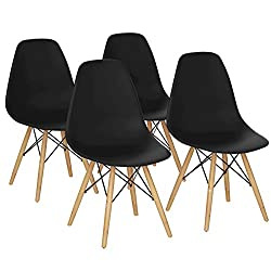 Giantex Set of 4 Mid Century Modern Style DSW Dining Chair Side Wood