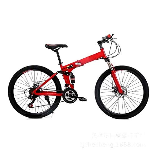 ZLDAN MTB Folding Bicycle Adult Men Shift disc bis (Color : Red)