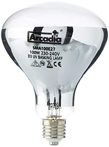 Ardacia SMA100E27 D3 Basking Lamp, 100 W