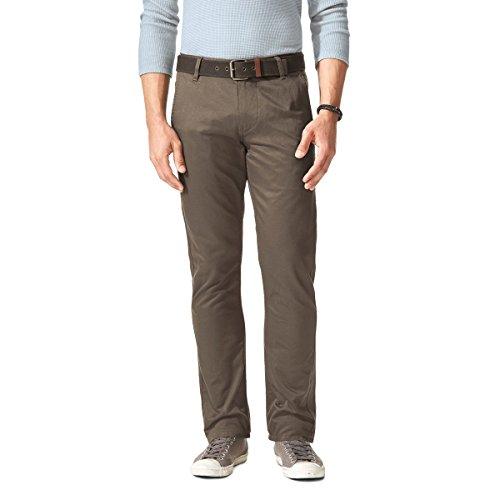 Dockers Alpha Original Khaki Slim-Stretch Twill Pantalones, Marrón (Dark Pebble 0433), 36W / 32L para Hombre