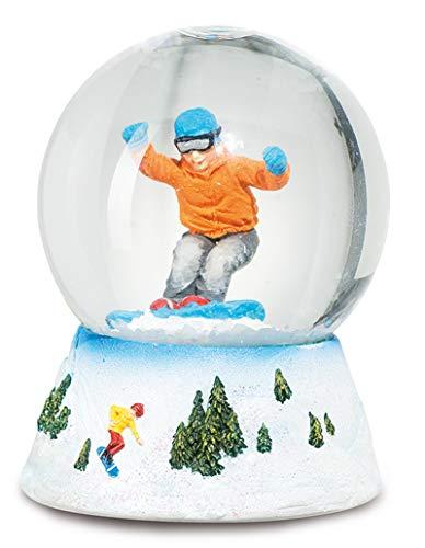 bric a breizh Schneekugel Snowboarder 6/4,5 cm