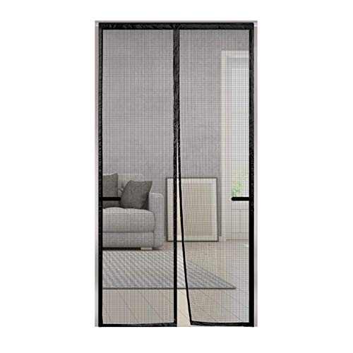 "Magnetic Screen Door, Rends Upgraded Screen Door with Durable Fiberglass Mesh Curtain & Portable Magic Velcro, Full Frame Hook & Loop Screen Door Fit Doors Size up to 39""W x 83""H Keep Bug Out - Black"