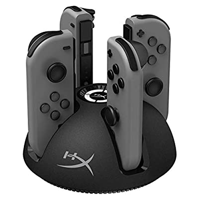 HyperX Chargeplay Quad - 4-in-1 Joy-Con Charging Station for Nintendo Switch with LED Indicators, USB Connection by Kingston Technology Company, Inc.