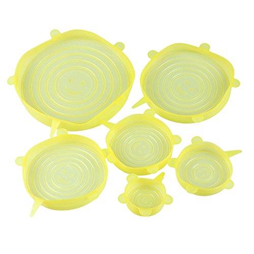 perfk Juego de 6 Tazones para Almacenar Alimentos - Amarillo, Individual