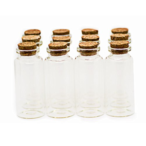 RUBY - 25 Botellas de deseo 30mm x 70mm (35 ml Aprox), mini