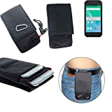 K-S-Trade® Gürtel Tasche Panasonic Toughbook P-01K Brusttasche Brustbeutel Schutz Hülle Smartphone Case Handy Schwarz Travel Bag Travel-Case Vertikal