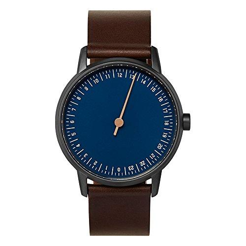 slow Round 03 - Dark Brown Leather, Anthracite Case, Blue Dial