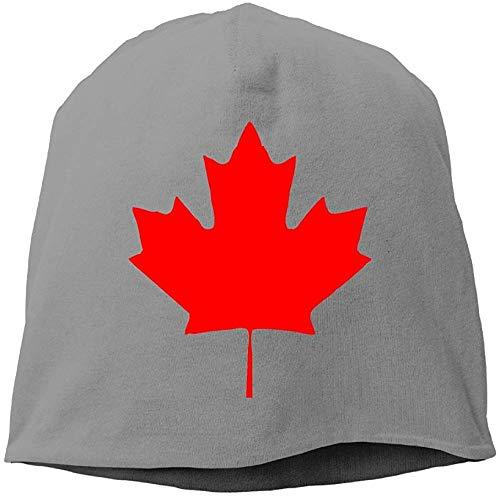 Canada Maple Leaf Canadian Flag Unisex Stretch Beanie Skull Cap Knit Hat for Men Women Black Winter Hat