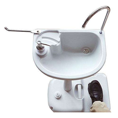 Bestdeal.shop Sink Outdoor Portable Wash Basin Water Tank Faucet Removable Folding Pack Away Camping Hiking