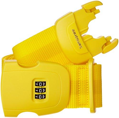 Samsonite Safe 3 Combi Correa para Equipaje, Color Amarillo