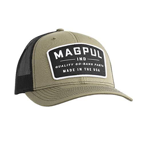 Magpul Casquette de Baseball Unisexe Trucker avec Fermeture à l'arrière, Mixte Homme, Casquette de Baseball, MAG1102, Go Bang Olive/Noir, L
