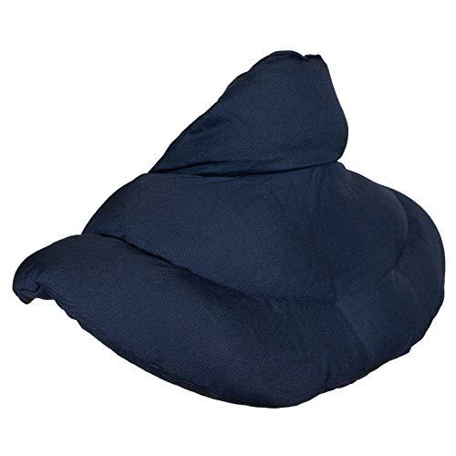 Coussin de nuque avec col montant - Bleu foncé - Coussin aux graines de lin - Coussin épaules et cou