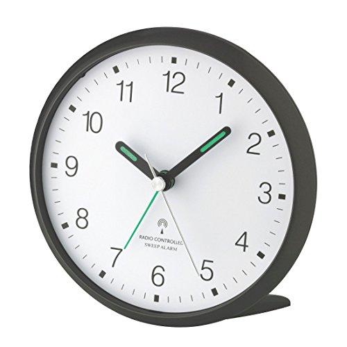 TFA Dostmann 60.1506 Funk-Wecker, leises Sweep Uhrwerk, gut ablesbare Ziffern, mit Funkuhr, 5,2 x 11 x 10,7 cm (Titan)