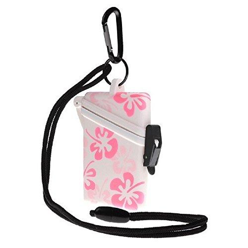 WITZ STRANDSAFE - Wasserdichter Badesafe Strandbox mit Blüten + Karabinerhaken
