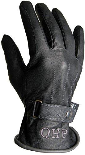 QHP Leder-Reithandschuhe Winterhandschuhe Nova Zembla mit Fleece schwarz/gs (XL)