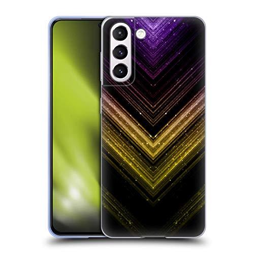 Head Case Designs Licenza Ufficiale PLdesign Ombre Oro E Porpora Metallico Scintillante Cover in Morbido Gel Compatibile con Samsung Galaxy S21 5G