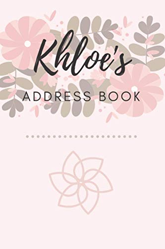 Address Book   Khloe: 6 x 9 Inches   208 Entries   104 Pages   Contact Book   Alphabetical with Letter on Each Page   Name   Address   Phone Numbers   Email   Notes