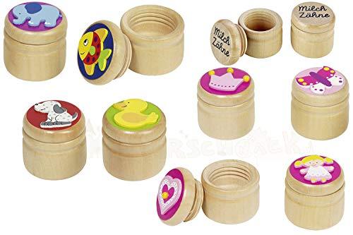 GoKi 60914 Boîte à dents de lait en forme de cœur, couronne, papillon, fille, mixte