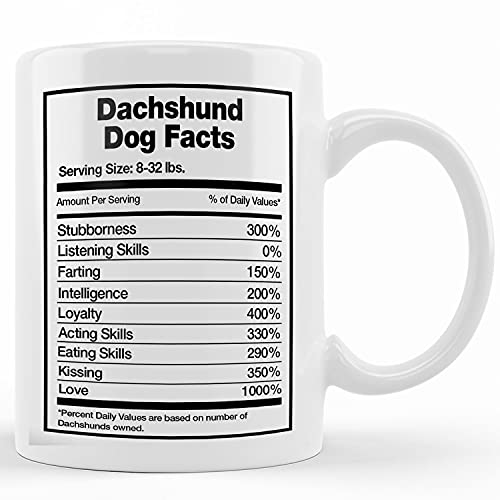 Dachshund Dog Facts, Dachshund Mug, Dachshund Gift, Dachshund Coffee Mug, Dachshund Mom, Wiener, Longhair Dachshund, Sausage Dog Gift, Mother's Day Gifts For Mom From Son, Kids, Gift For Mom, Funny M