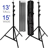 Ravelli ABSL Photo Video Backdrop Stand Kit 13' Tall x 15' Wide with Dual Air...