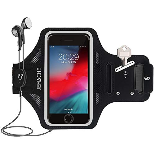 iPhone 7/8 Plus Armband, JEMACHE Thin Water Resistant Gym Running Workouts...