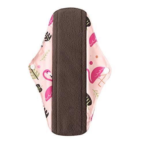 KGDUYH Reutilizable Pedimentos de Forro de Forro de Tela Menstrual Pad Mom'S Hygiene Reusable Softable y Lavable Bambú de bambú Servilleca para Mujeres (Color : Q, Size : S(Length 200mm))