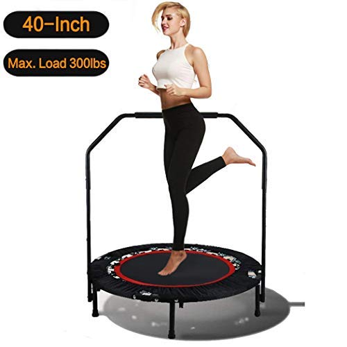 Hosmat 40 Inch Mini Exercise Trampoline for Adults or Kids - Indoor Fitness Rebounder Trampoline...