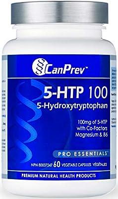 CanPrev 5-HTP 100 with B6 and Magnesium Vegi Capsules, 60 Count