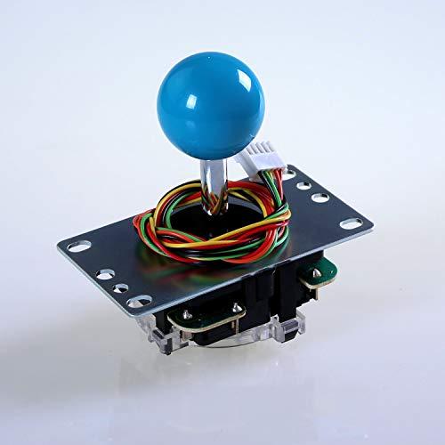 Sanwa JLF-TP-8YT-SK OEM Light Blue Ball Handle Arcade Joystick 4 & 8 Way Adjustable (Mad Catz SF4 Tournament Joystick Compatible) by Sanwa