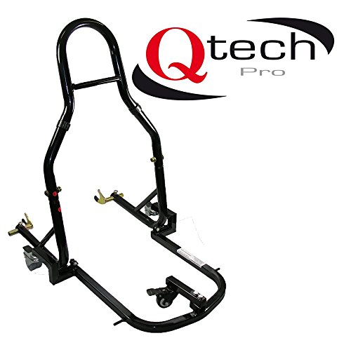 Qtech Motorfiets Dolly achterwiel-stuurderlagerstandaard motorfiets Mover universeel in zwart
