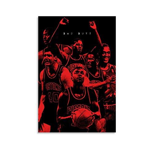 Póster de Dennis Rodman de baloncesto con texto en inglés 'Bad Boys', para decoración de pared, para oficina, sala de estar, dormitorio, hogar, regalos para novio (30 x 45 cm)