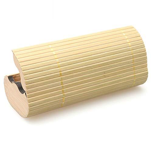 Young shinee Unisex Sonnenbrille Fall handgefertigte Bambus ovalen Brillenetui