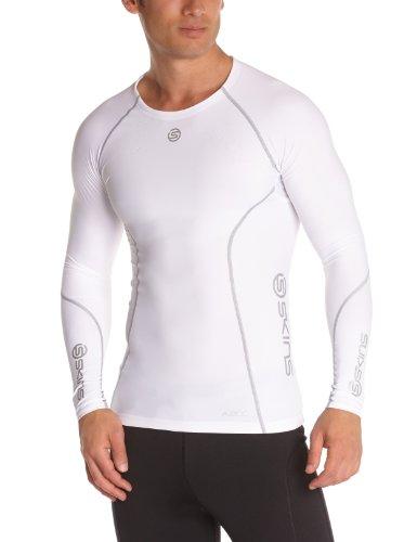 Skins Herren Mens Top Long Sleeved A200, White, XL, B60005005XL
