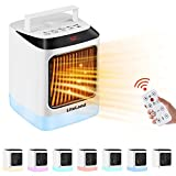 Electric Space Heater Portable Indoor 1000W/800W Small Ceramic Heaters For...