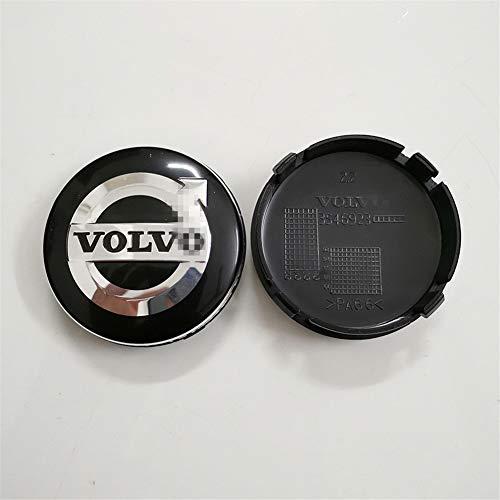 4pcs Juego De Tapas Centrales 64mm Para VOLVO S40 S60 S80L XC60 XC90 Reemplazo Insignia Emblema Cubiertas Decorativas Ruedas Trim Car Styling Accessori
