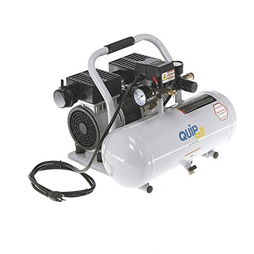 Quipall 2-1-SIL-AL 1 HP 2 Gallon Oil-Free Hotdog Air Compressor