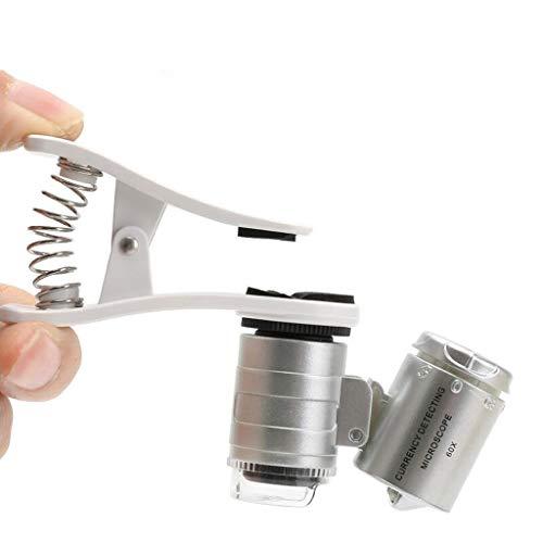 60X Teléfono móvil Foto Lupa Mini microscopio Teléfono móvil Foto portátil Joyería Antigua Identificación de Jade