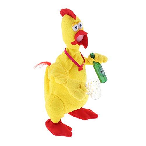 B Blesiya Singendes und Tanzendes Huhn Plüschtier Spielzeug Elektrisches Spielzeug, Spaß für Kinder - mit Bier