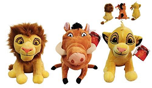 Der König der Löwen (The Lion King) - Plüsch Löwen Simba Erwachsene + Junge Simba + Pumbaa der Eber 11