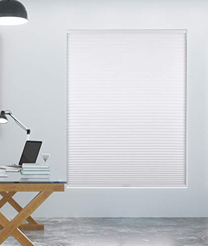 "Arlo Blinds 9/16"" Single Cell Blackout Cordless Cellular Shades, Color: White, Size: 34"" W x 72"" H"