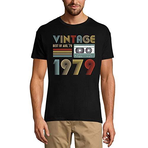 Ultrabasic Camiseta para hombre, diseño vintage con texto en inglés 'Best of August 1979' - negro - X-Small