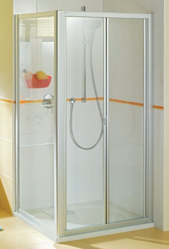 Duschkabine BREUER Eleganca Fara Falttür 90x90 mit Seitenwand Echtglas Quickline 90 x 90 cm Dusche zum falten faltbar Faltwand