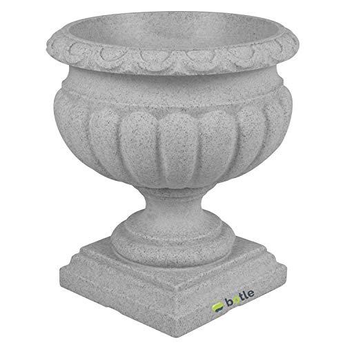 Pflanzpokal Amphore Pflanzgefäß Vase Schale Deko grau rund D 46 cm Kunststoff