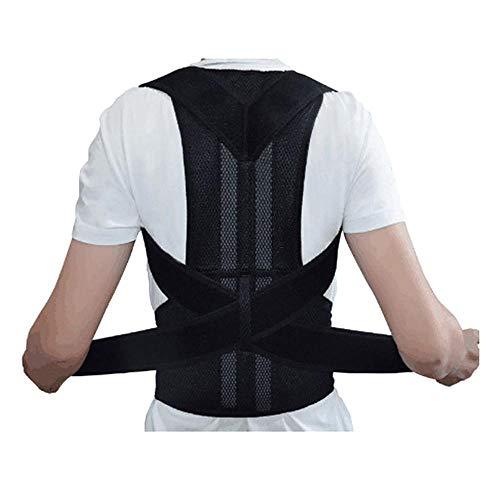 Geradehalter zur Haltungskorrektur, Haltungskorrektur Rücken Herren Damen Rückentrainer Rückenstütze Schultergurt Haltungstrainer Posture Corrector für Nacken Rücken Schulterschmerzen(M,Schwarz)