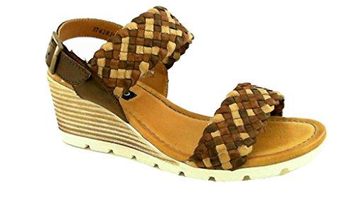 andiamo, Damen - Sandalen mit Keilabsatz, Cybil - TPR (40 EU, braun)