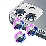 KUANDARM per iPhone 12 PRO Max Anti-Scratch Camera Lens Metal Ring,Film di Copertura Schermo in Lega di Alluminio Temperato HD Premium,Accessori Ultra Thin Clear iPhone 12 (3pcs-12pro/max,A)